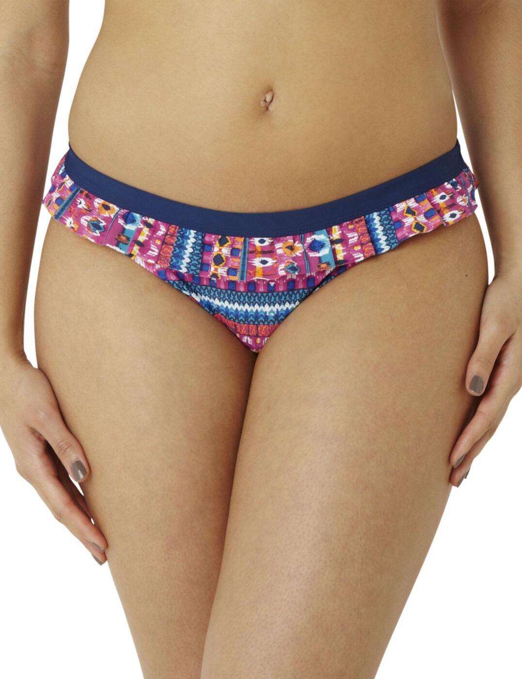 CW0179 Cleo Lexie Frill Bikini Pant Ikat Print - CW0179 Frill Pant