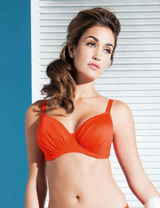 5749 Fantasie Versailles Full Cup Gathered Bikini Top - 5749 Clementine
