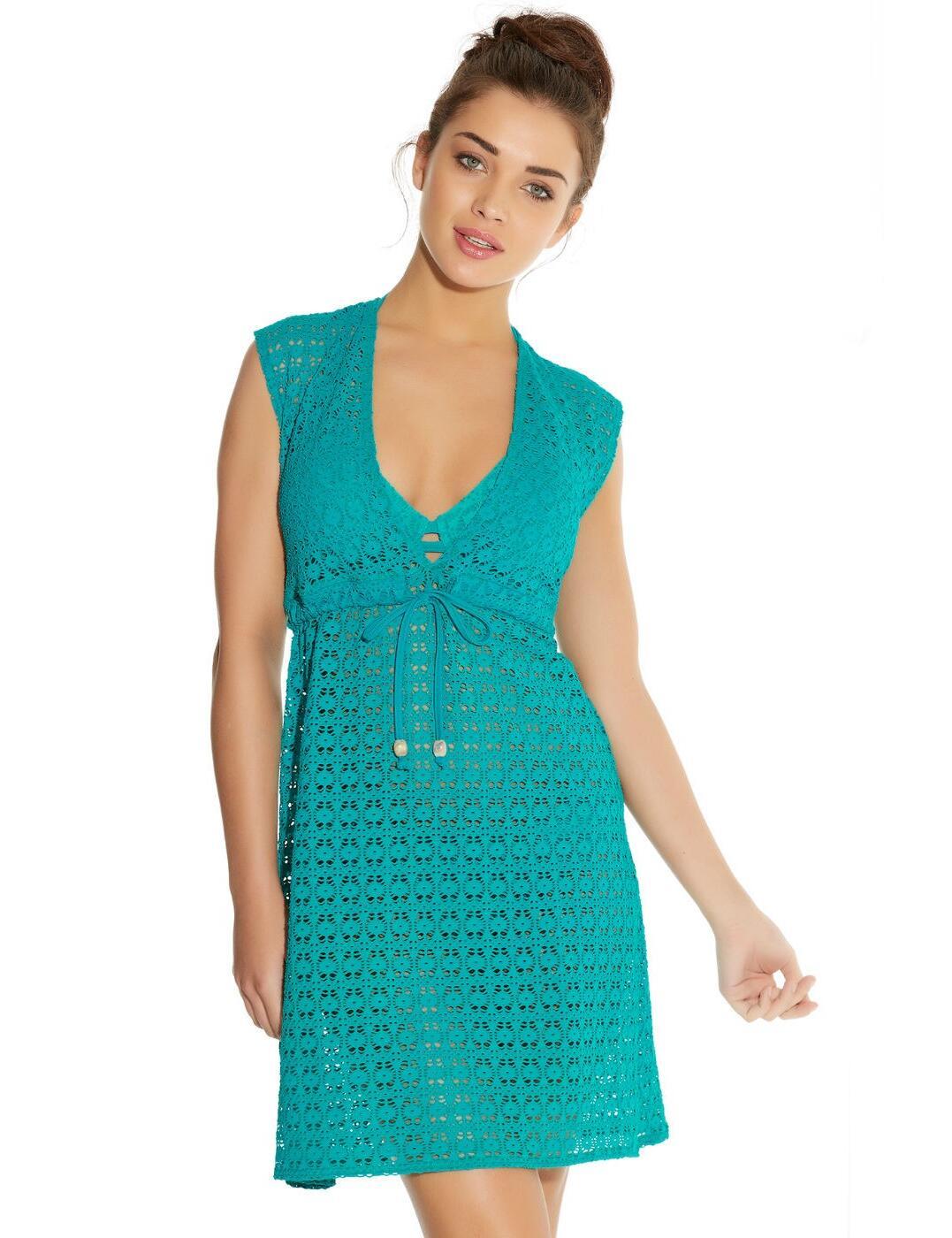 3908 Freya Spirit Beach Tunic Dress - 3908 Jade