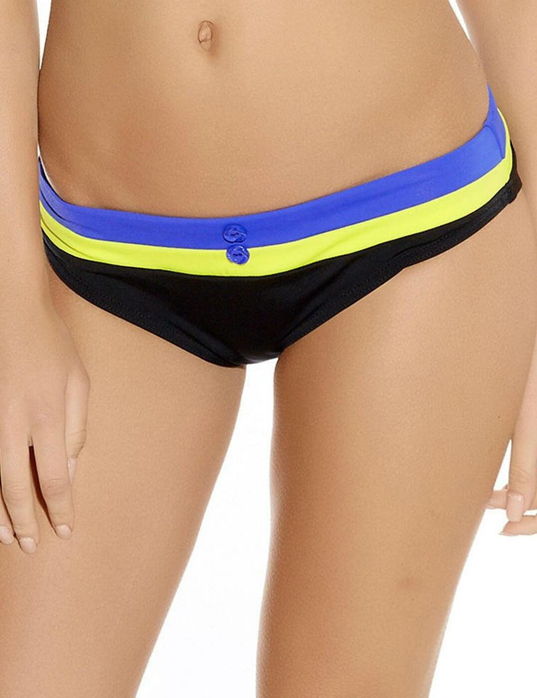 3223 Freya Revival Hipster Brief  - 3223 Surf/Black