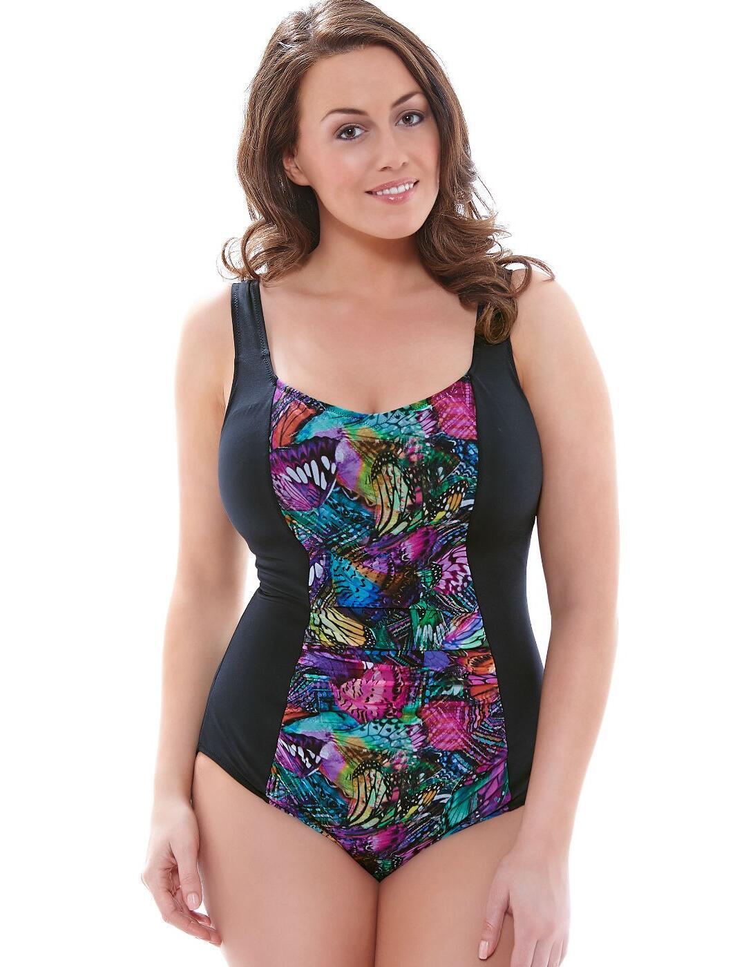 7431 Elomi Kaleidoscope Swimsuit Black - 7431 Swimsuit