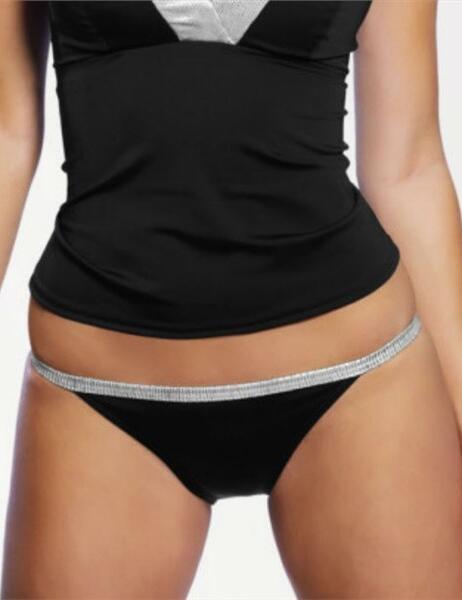 3090 Freya Magic Tab Side Bikini Brief - 3090 Black silver