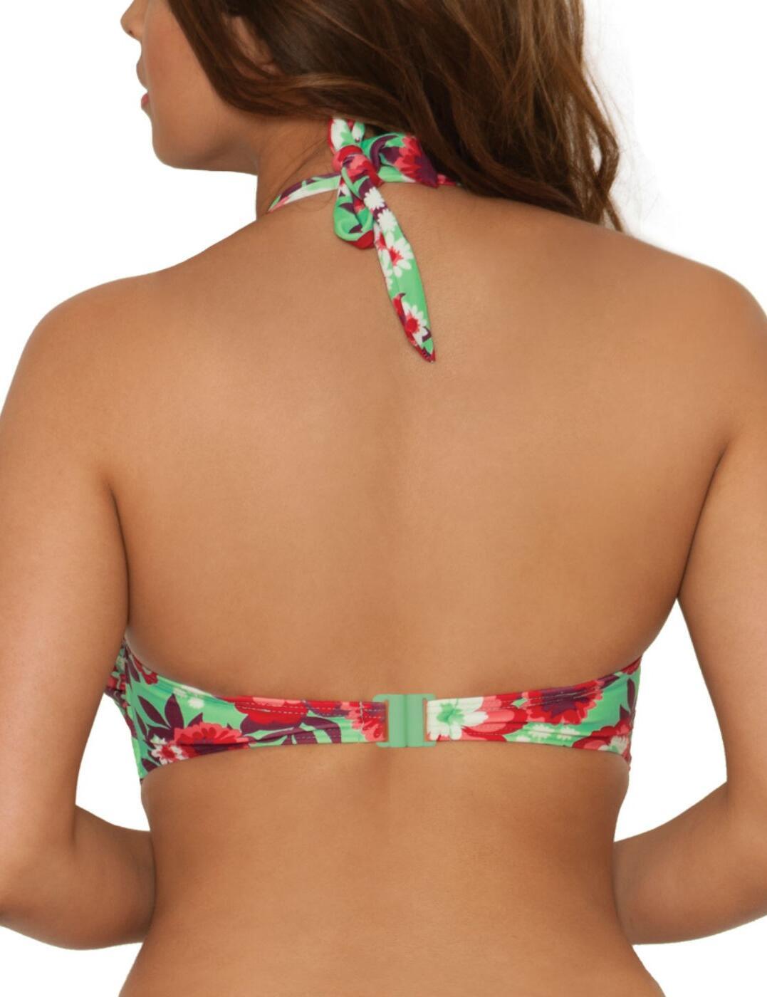 Curvy Kate CS3041 Aloha Bandeau Bikini Top in Sea Foam