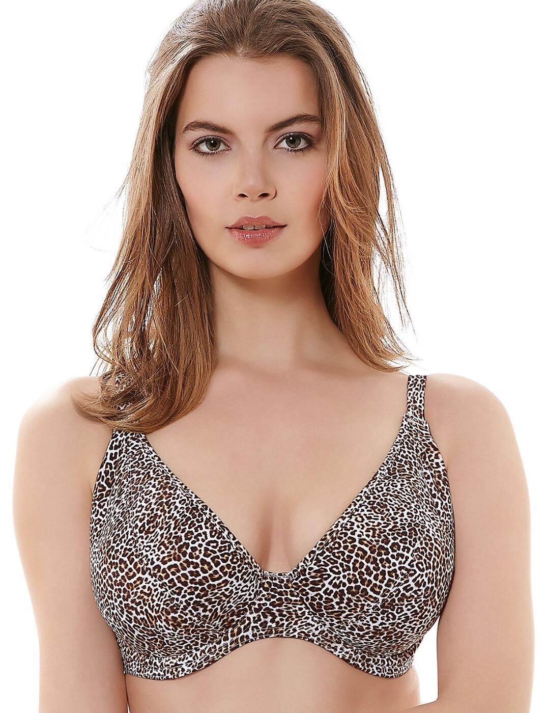 3937 Freya Rumble Padded Plunge Bikini Top Leopard - 3937 Plunge Bikini Top