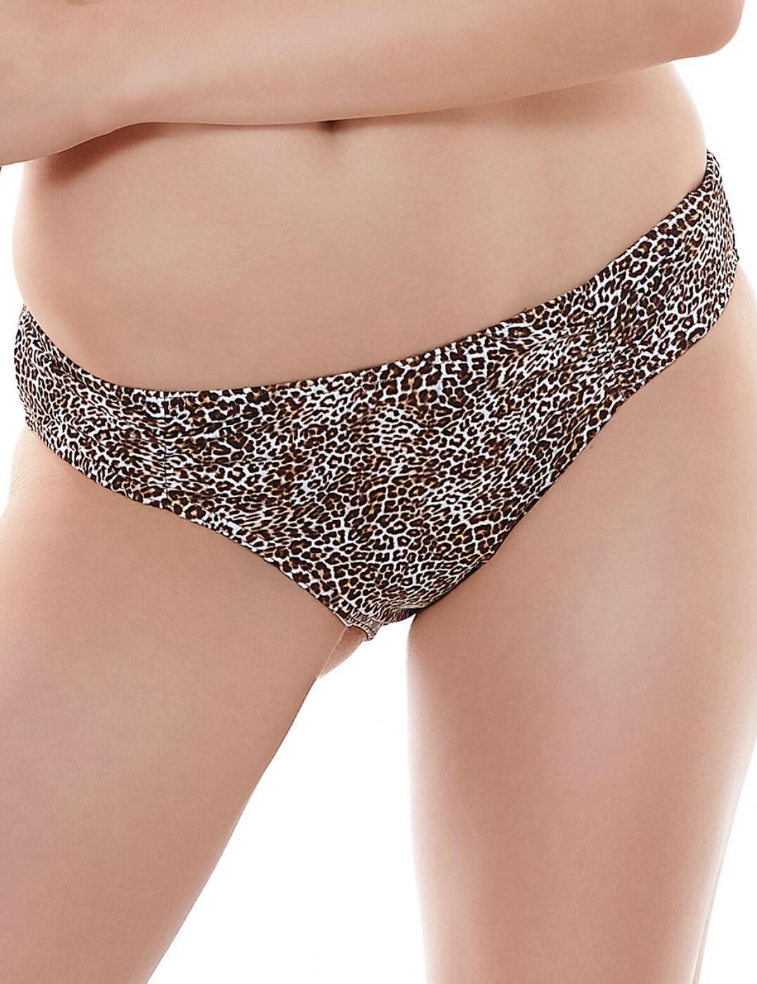 3941 Freya Rumble Gathered Hipster Bikini Brief Leopard - 3941 Gathered Brief