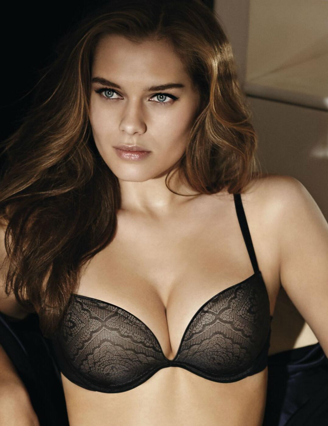 W032E Wonderbra Ultimate Silhouette Lace Bra  - W032E Black