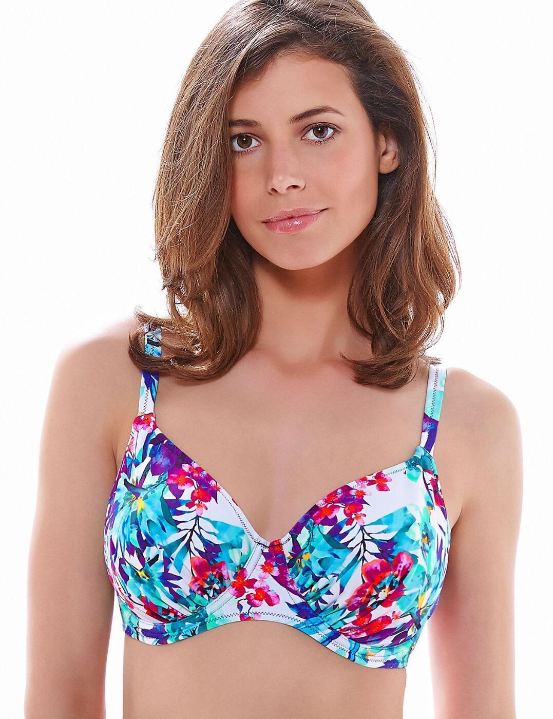 6089 Fantasie Sardinia Gathered Full Cup Bikini Top Multi - 6089 Full Cup Bikini Top