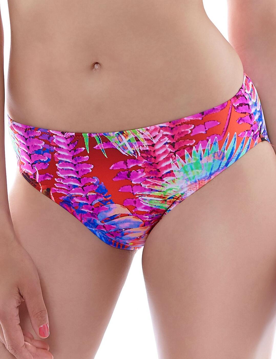 6173 Fantasie Punta Cana Mid Rise Bikini Brief Hot Coral - 6173 Mid Rise Brief