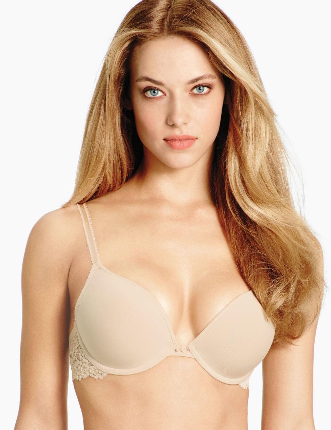 858191 Wacoal Embrace Lace Push Up Bra - 858191 Nude/Ivory