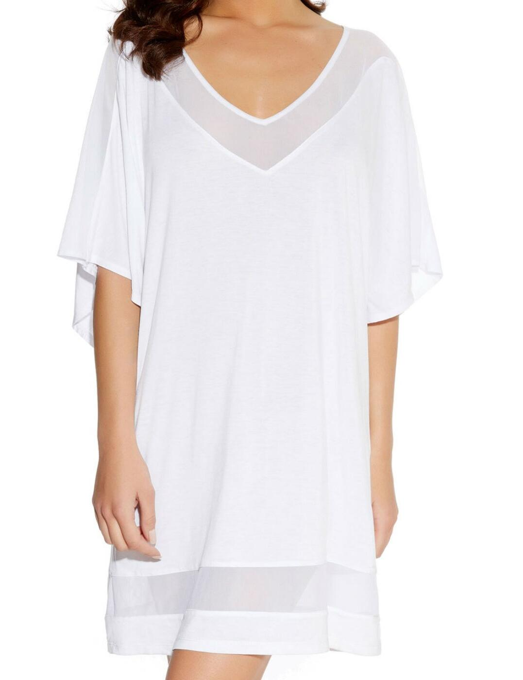 3001 Freya Rock Star Tunic Cover Up - 3001 White