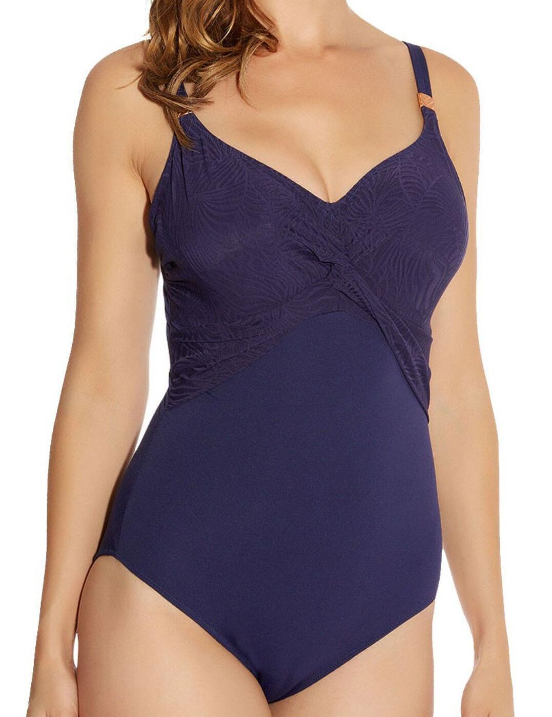 5436 Fantasie Montreal Underwired Twist Front Swimsuit - 5436 Indigo
