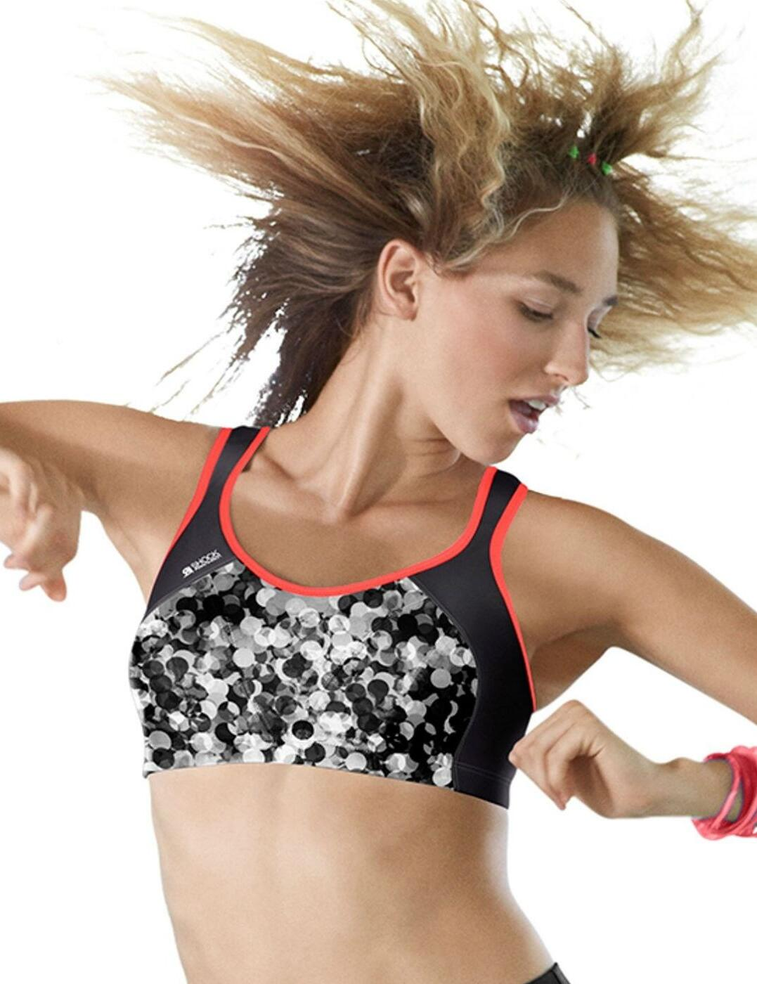 S4490 Shock Absorber High Impact Sports Bra - S4490 Bubble Print