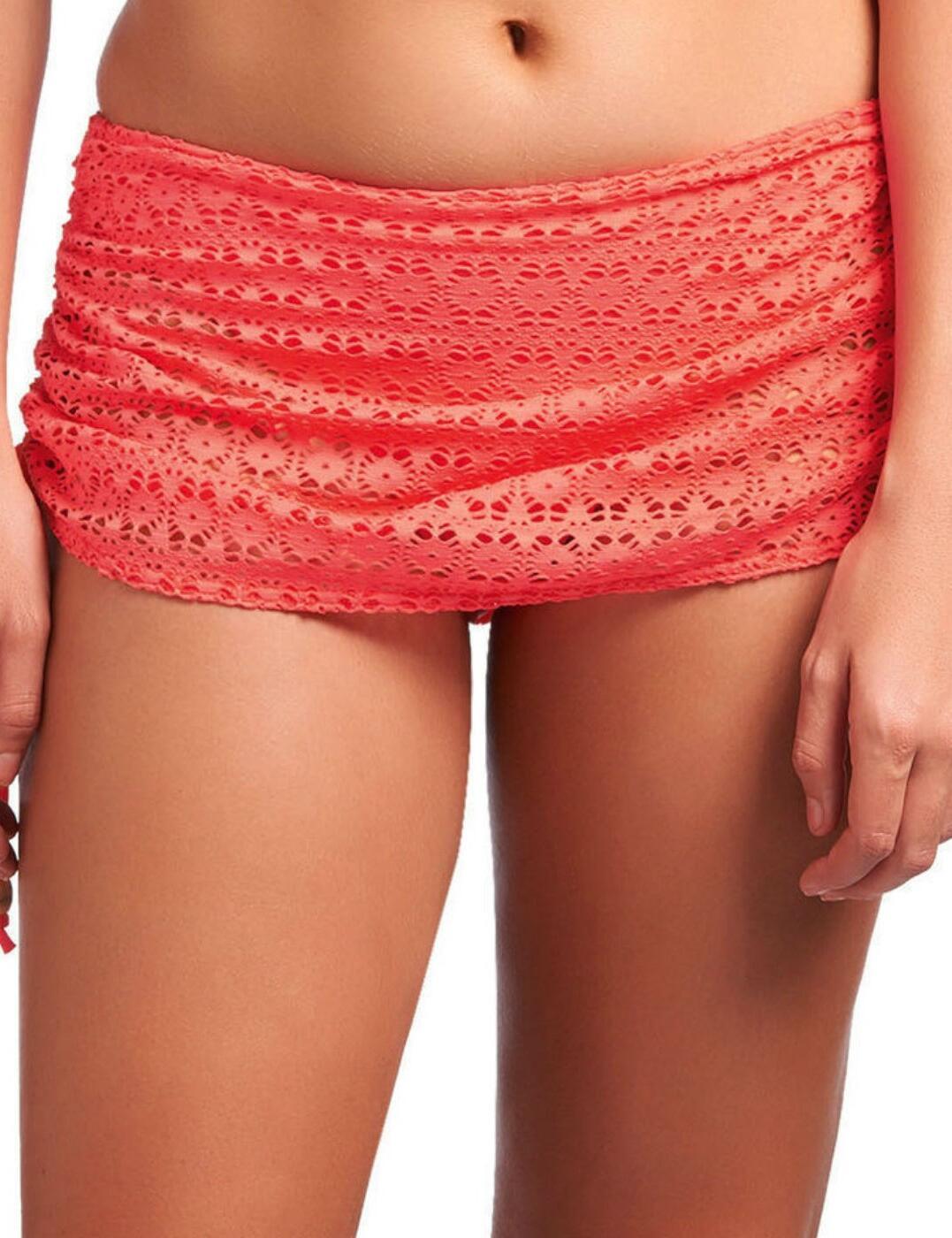 3907 Freya Spirit Skirted Bikini Brief - 3907 Coral