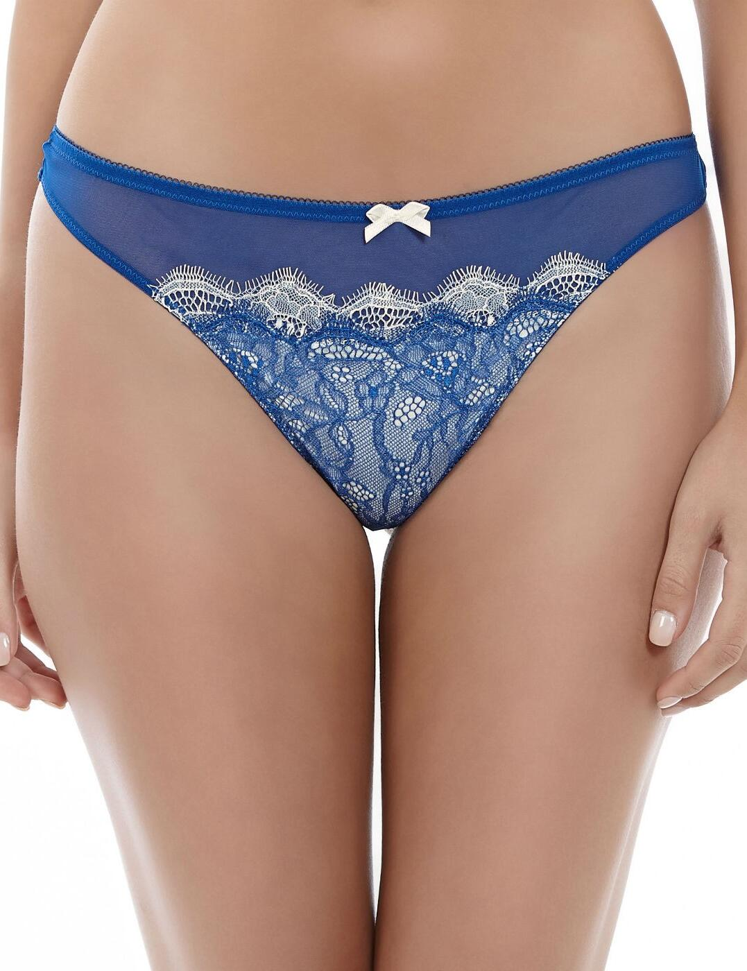 942261 B.tempt'd B.Sultry Thong  - 942261 Deepsea Blue/Ivory