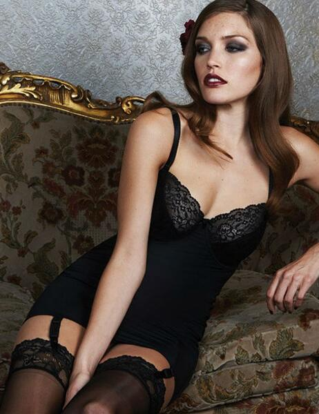 0116280 Charnos Hourglass Corselette Black  SALE - 0116280 Black