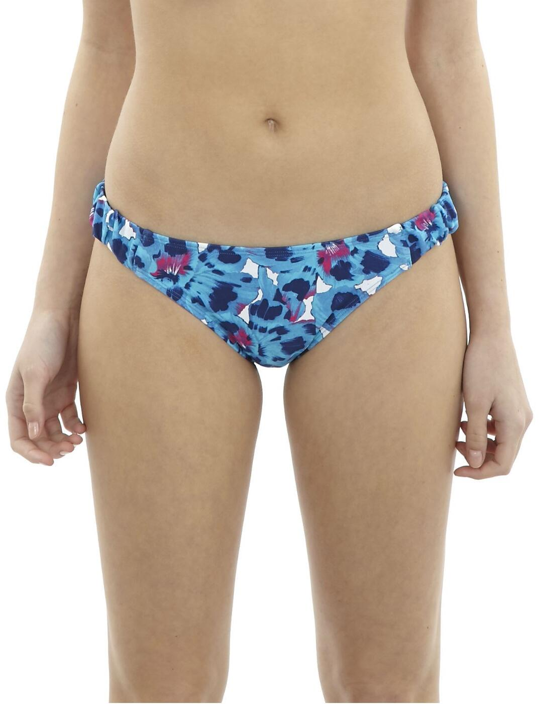 CW0206 Cleo Suki Gathered Bikini Brief - CW0206 Blue Floral