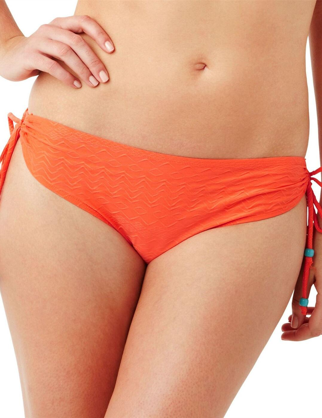 CW0087 Cleo Matilda Drawside Bikini Brief Pant  - CW0087 Orange