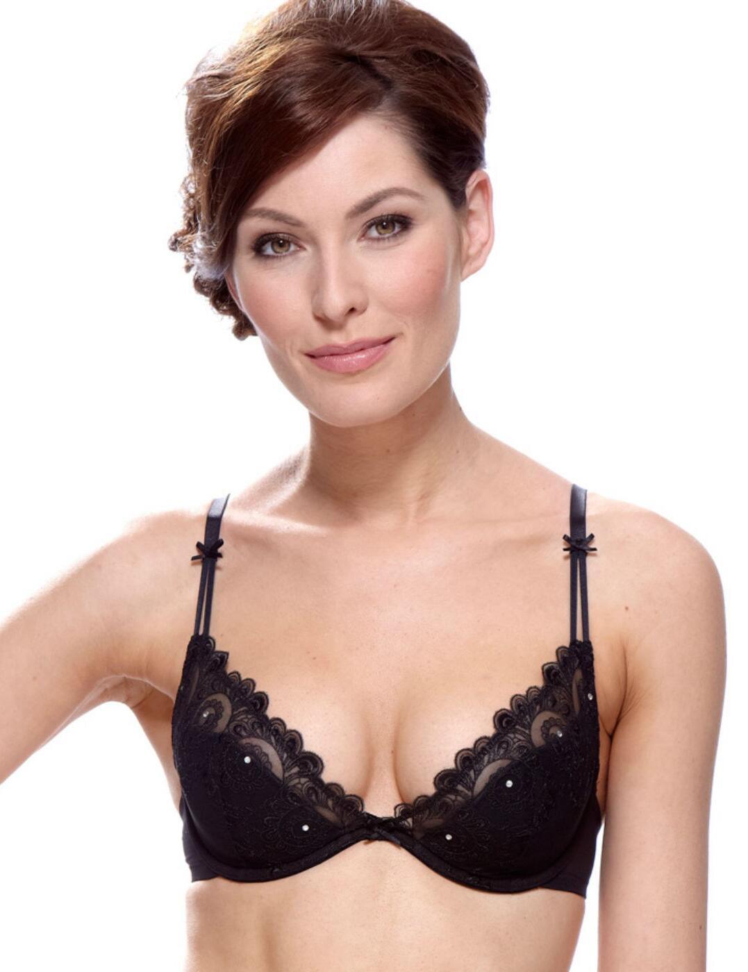 1207020 Lepel Erin Half Padded Plunge bra Black - 1207020 Plunge Bra