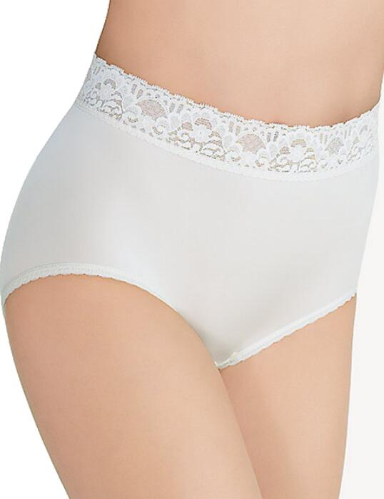 089366 Wacoal Bodysuede Lace Waist Brief - 089366 Ivory