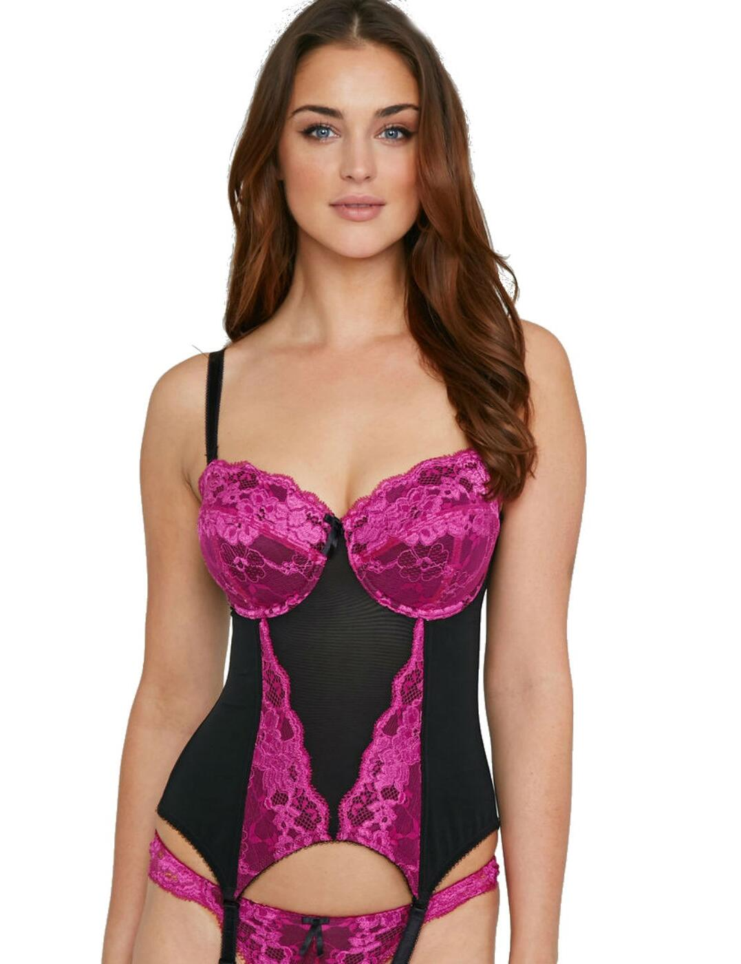 1505 Pour Moi? Amour Padded Basque - 1505 Jewel Pink