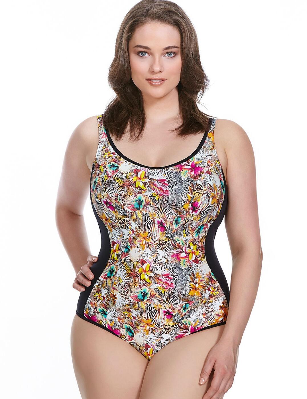 7520 Elomi Fly Free Moulded Swimsuit  - 7520 Black