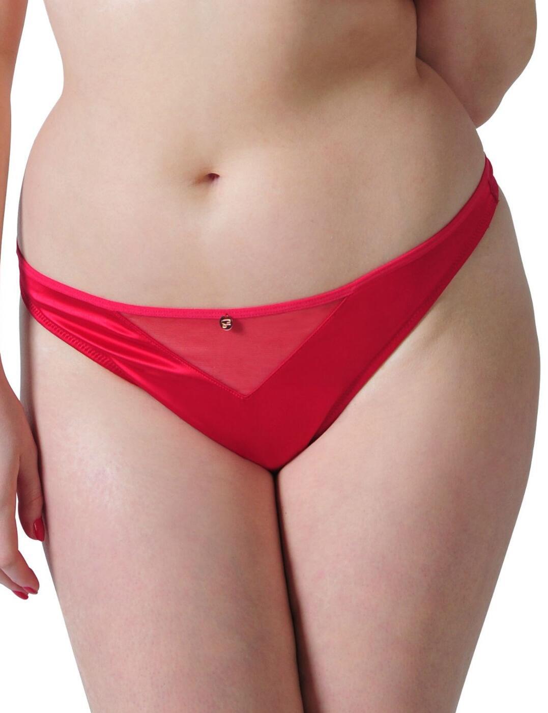 ST2302 Scantilly Peek A Boo Thong - ST2302 Crimson