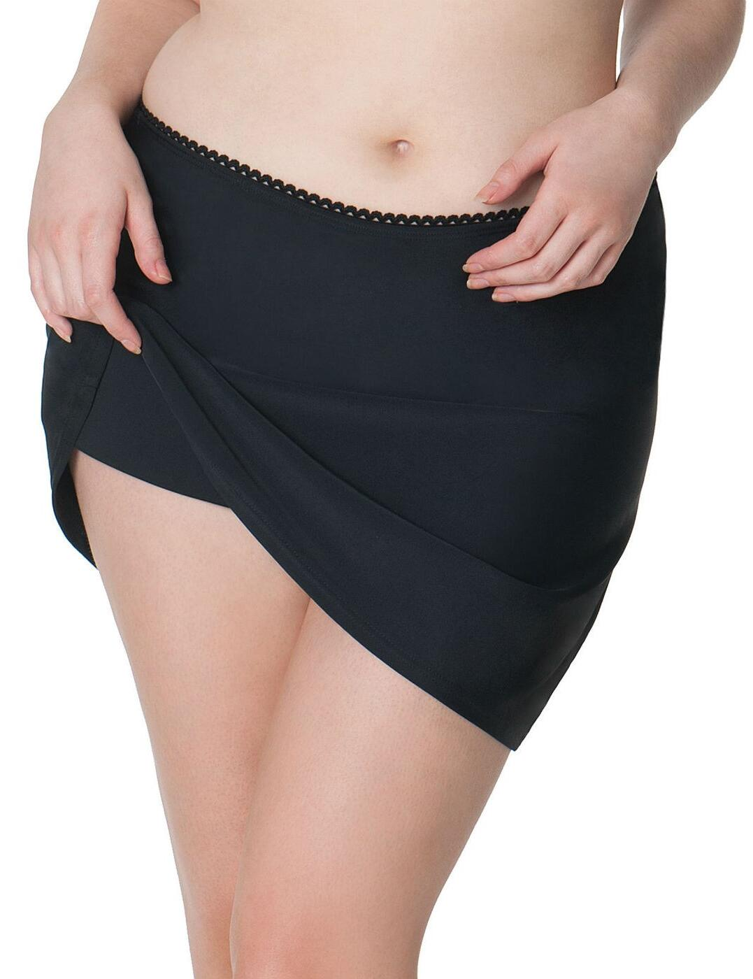 CS3555 Curvy Kate Jetty Swim Skirt Skirted Brief - CS3555 Black