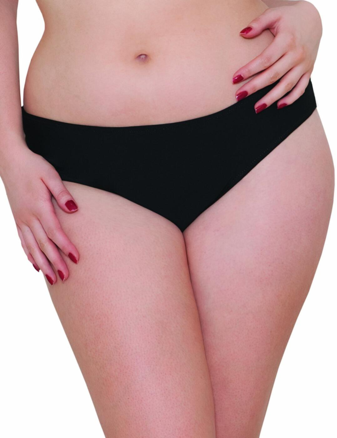 CS1003 Curvy Kate Peachy Pairs Reversible Swim Short - CS1003 Black/Lime
