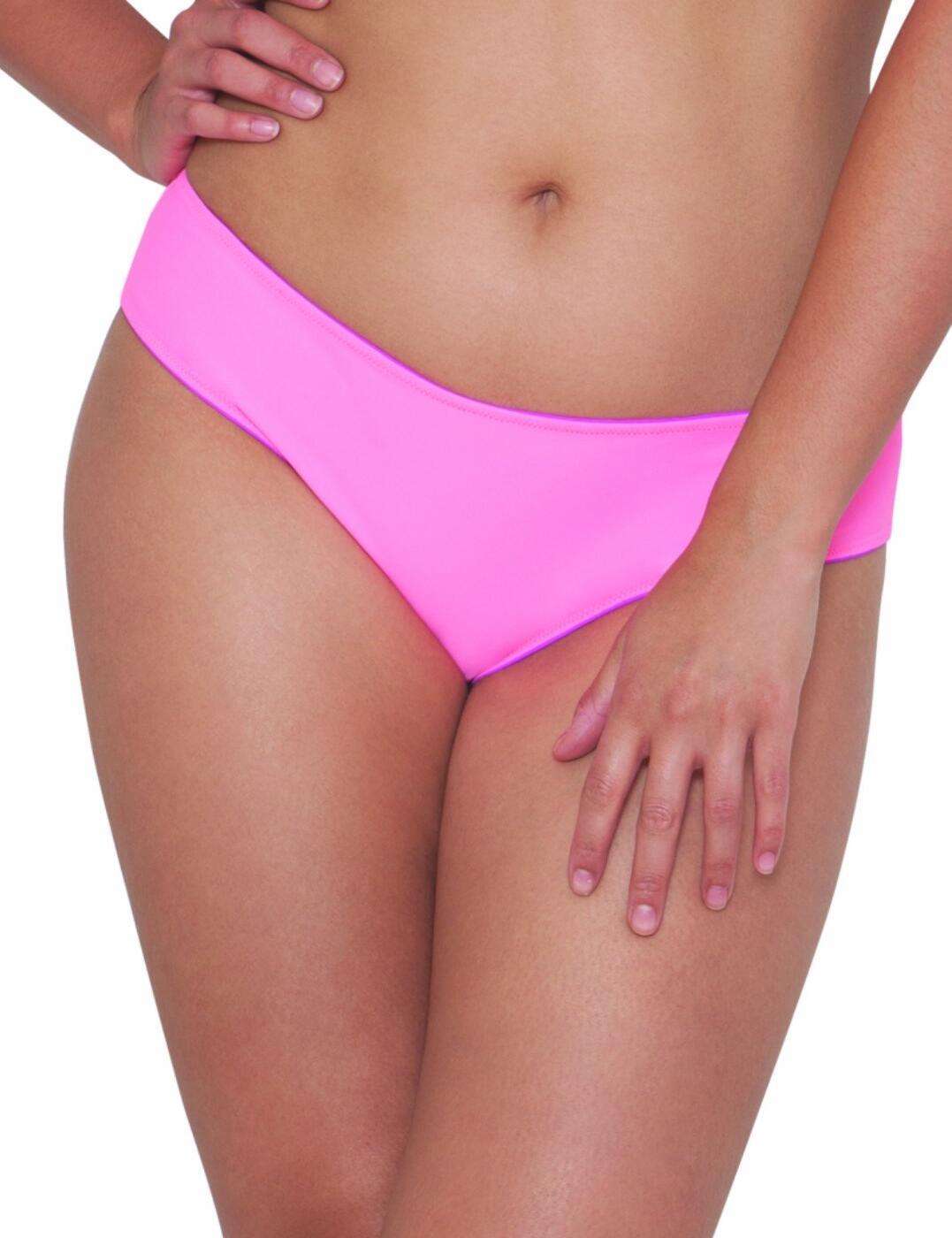 CS1003 Curvy Kate Peachy Pairs Reversible Swim Short - CS1003 Pink/Flamingo