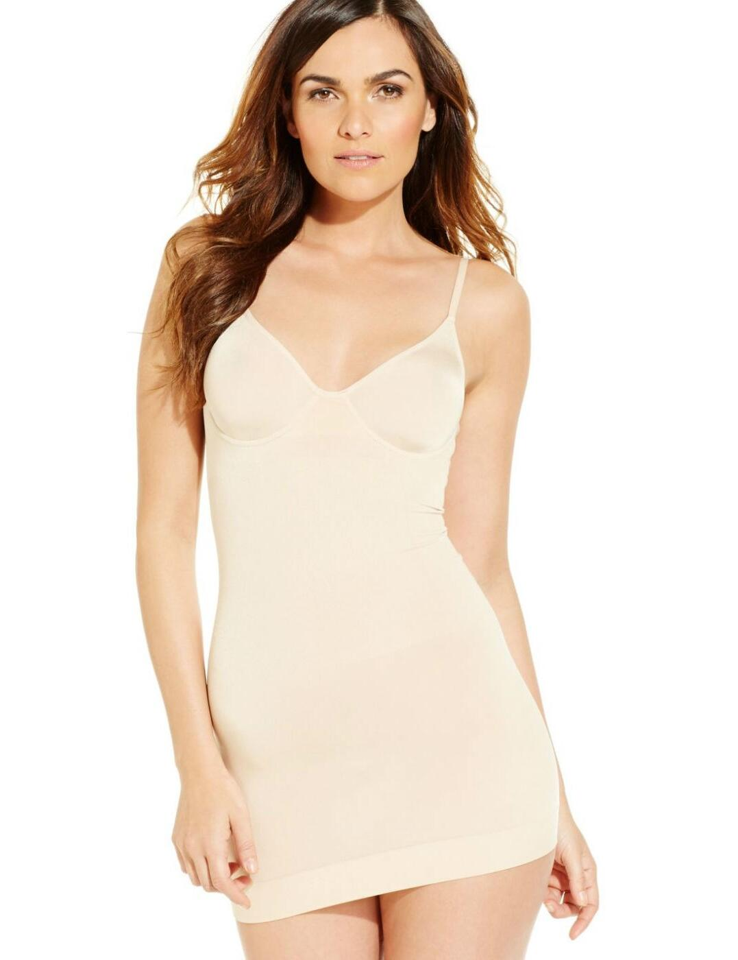 837375 Wacoal B-Smooth Underwired Slip Dress - 837375 Nude
