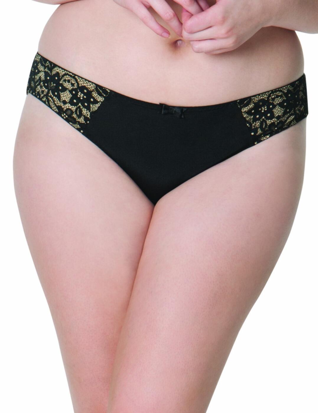 SG3205 Curvy Kate Vixen Brazilian Brief - SG3205 Black/Almond
