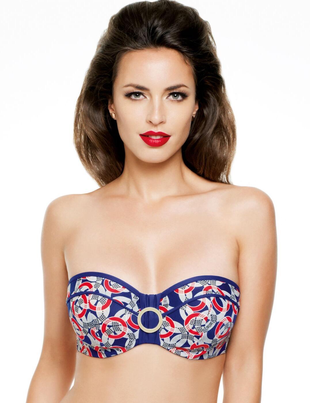 SW0773 Panache Nancy Bandeau Bikini Top - SW0773 Print