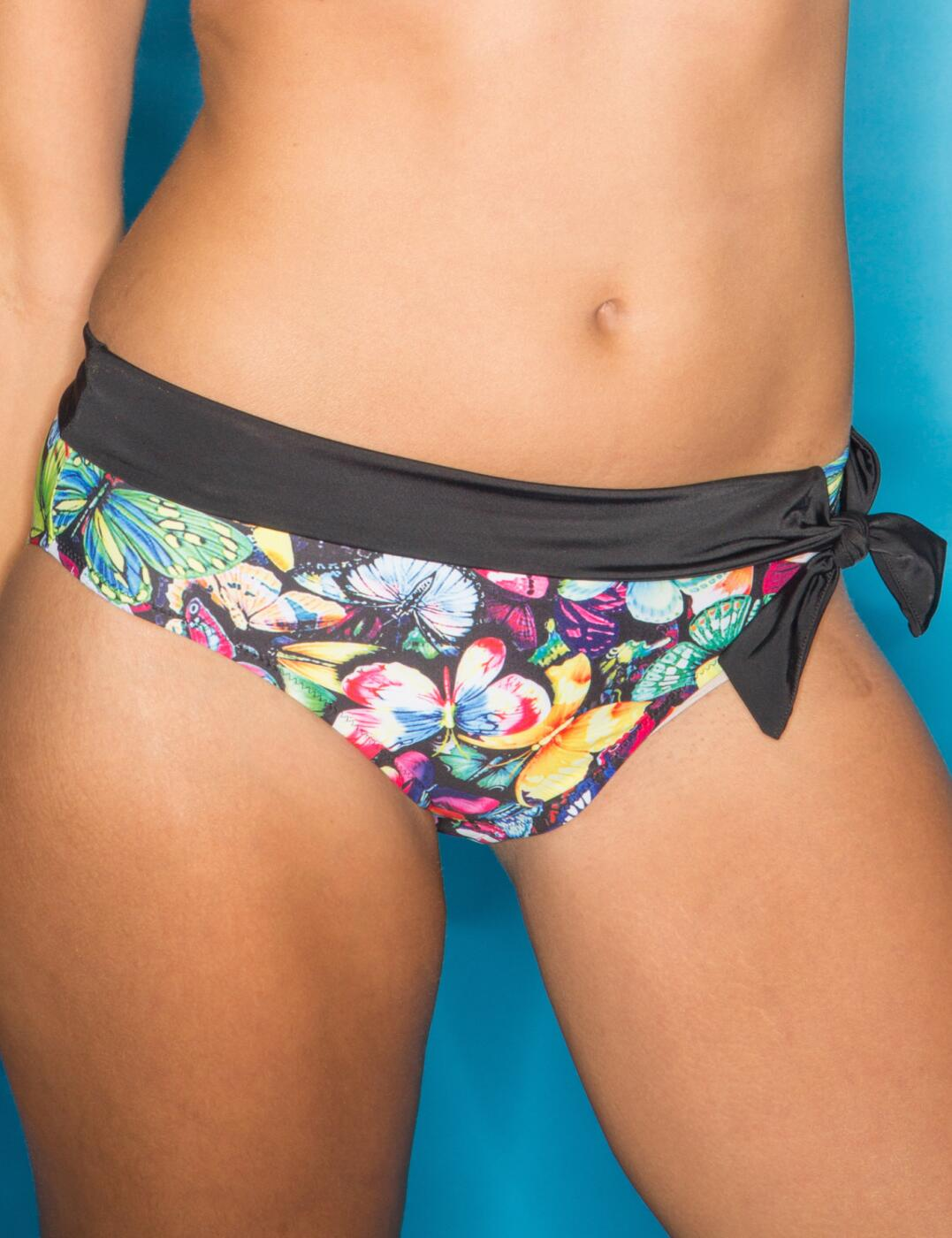 69003 Pour Moi? Copacabana Fold Tie Bikini Brief - 69003 Butterfly/Multi