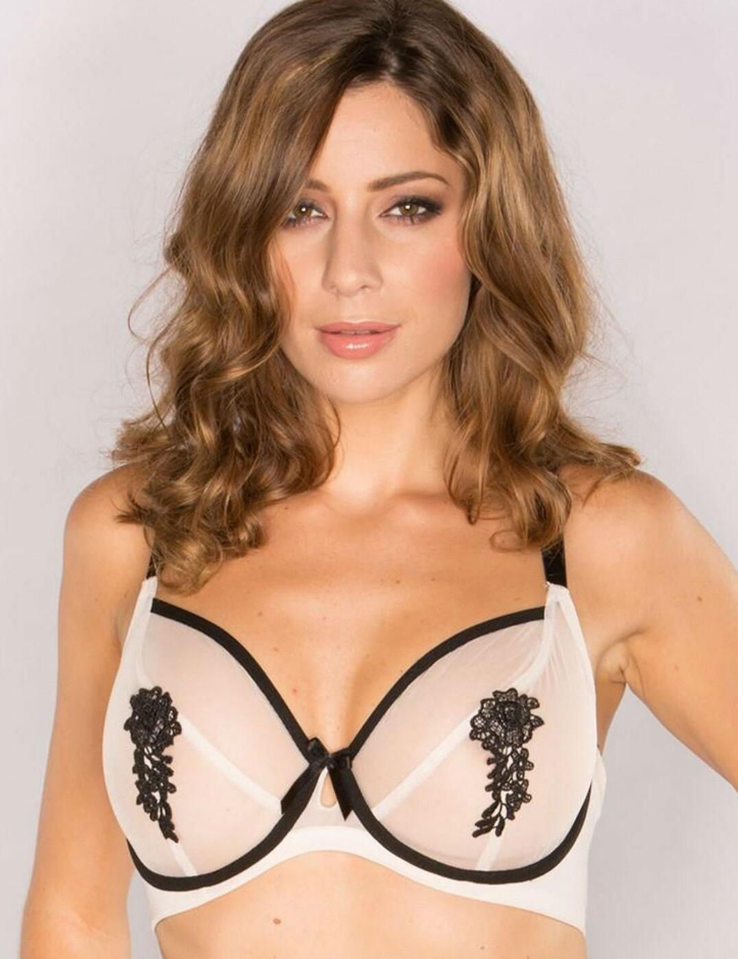 9302 Pour Moi Boudoir Full Cup Underwired Bra - 9302 Nude/Black