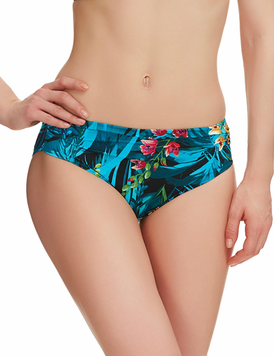 6107 Fantasie Seychelles Mid Rise Gathered Bikini Brief - 6107 Mid Rise Brief