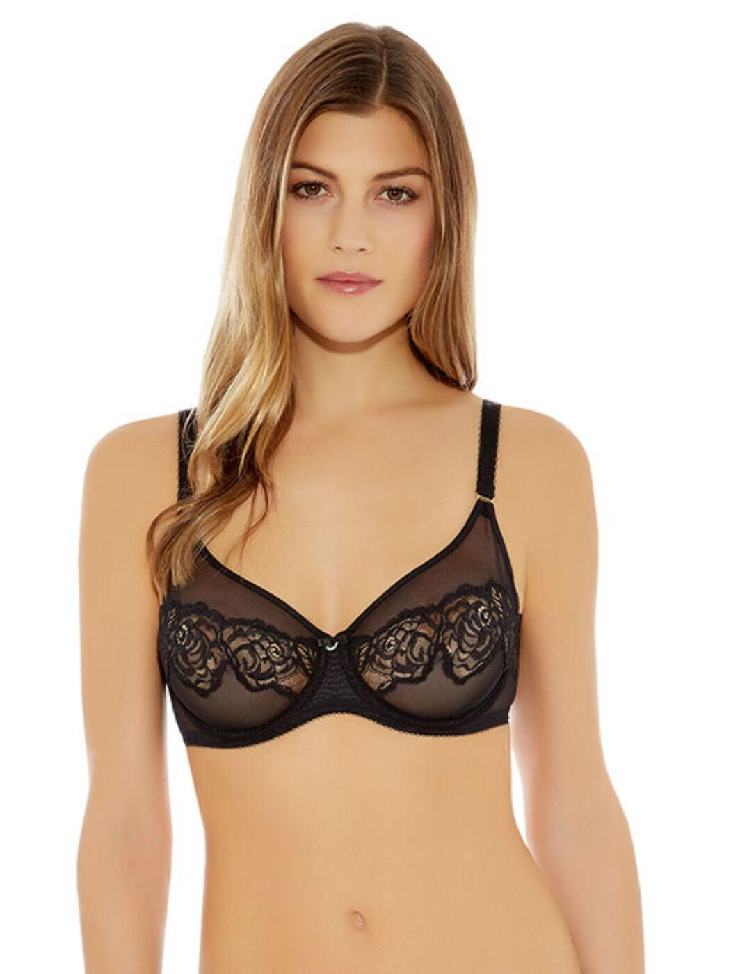 855253 Wacoal Sheer Enough Underwired Bra - 855253 Black