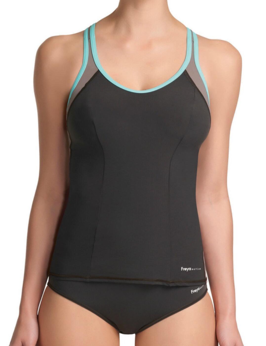 3184 Freya Active Swim Tankini Top Mocha - 3184 Mocha