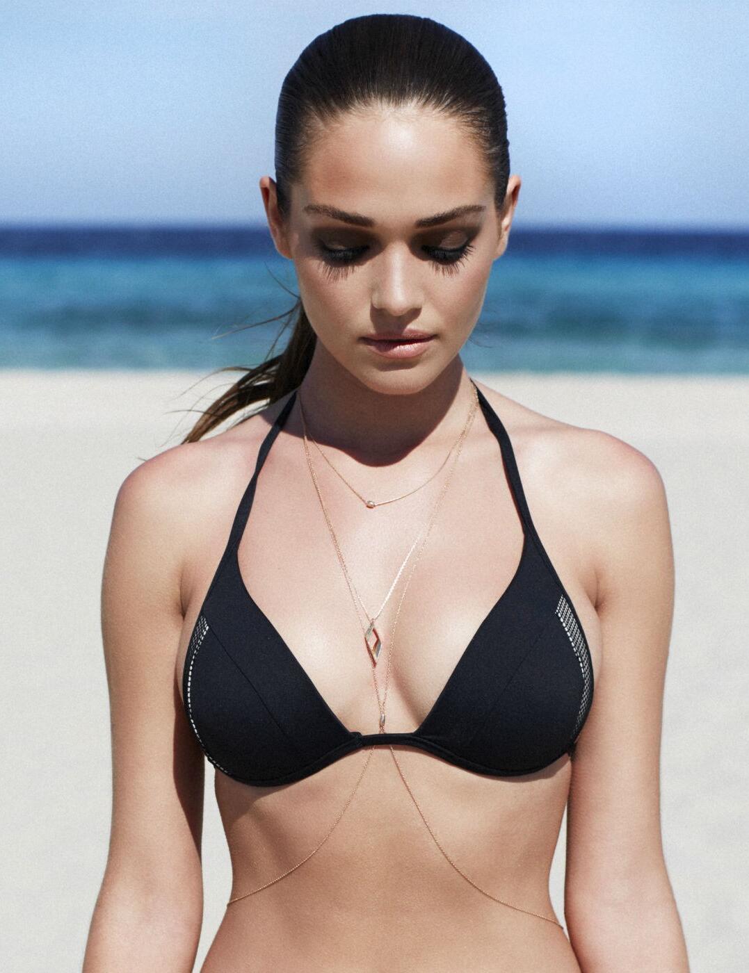 1538630 Lepel Helena Triangle Bikini Top Black  - 1538630 Triangle Top