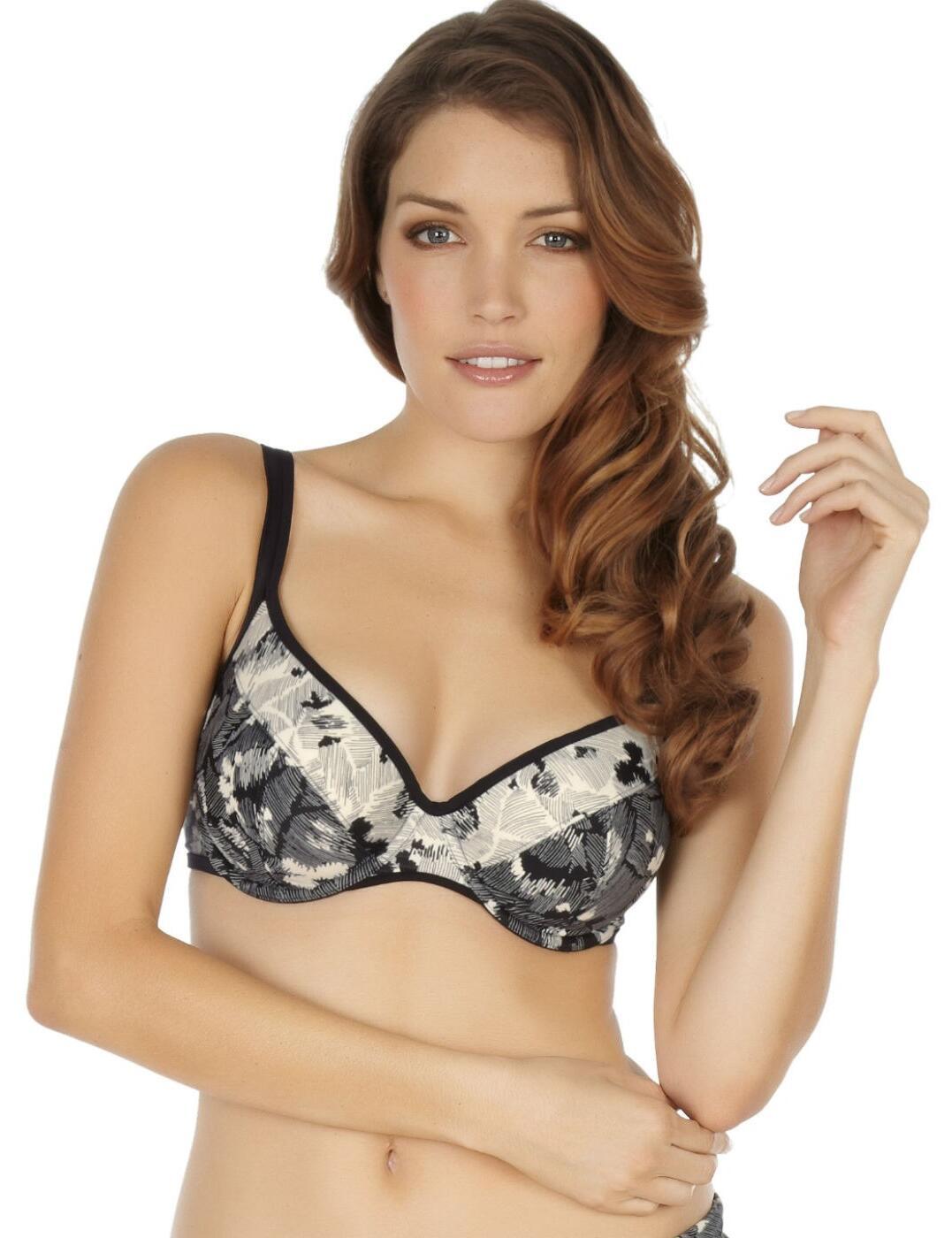SW0802 Panache Erica Balcony Bikini Top - SW0802 Black/Ivory