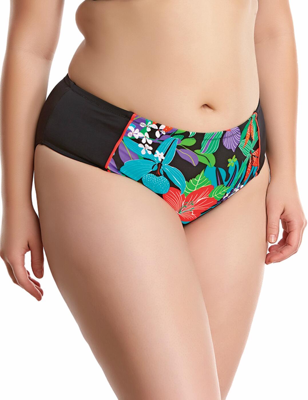 7094 Elomi Cubana Mid Rise Bikini Brief Black - 7094 Bikini Brief