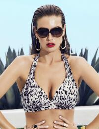 6304 Fantasie Masai Mara Soft Triangle Bikini Top Black - 6304 Triangle Bikini Top