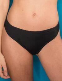 56003 Pour Moi Mixed Mesh Bikini Brief Black - 56003 Black