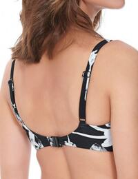 6221 Fantasie Cocoa Island Plunge Balcony Bikini Top Black - 6221 Balcony Bikini Top