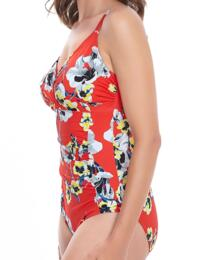6262 Fantasie Calabria Cross Control Swimsuit Red - 6262 Swimsuit