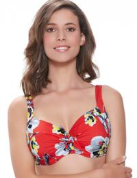 6256 Fantasie Calabria Padded Bikini Top Red - 6256 Padded Bikini Top