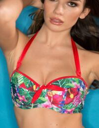 17000 Pour Moi? Jungle Fever Padded Balcony Bikini Top - 17000 Multi