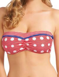 3464 Freya Hello Sailor Bandeau Bikini Top Red - 3464 Bandeau Top