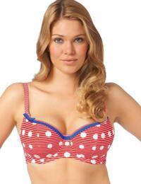 3465 Freya Hello Sailor Sweetheart Bikini Top Red - 3465 Padded Top