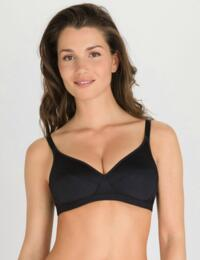 P00BD Playtex Basic Microsupport Soft Cup Bras 2 Pack  - P00BD Black