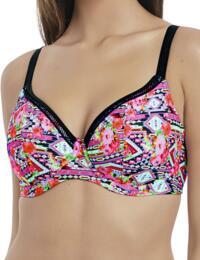 4610 Freya Texas Rose Plunge Bikini Top Rebel Pink - 4610 Plunge Bikini Top